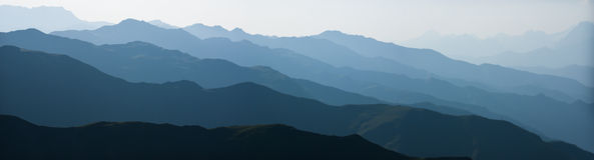 Catene montuose astratte Immagini Stock Libere da Diritti