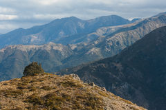 Catene montuose in Lewis Pass Fotografia Stock