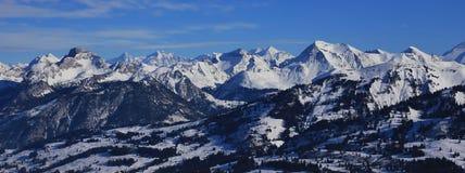 Catene montuose nel Bernese Oberland Immagine Stock Libera da Diritti
