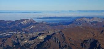 Catene montuose nel Bernese Oberland Vista da Jungfraujoch Fotografia Stock Libera da Diritti
