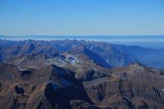 Catene montuose nel Bernese Oberland, vista da Jungfraujoch Fotografia Stock Libera da Diritti