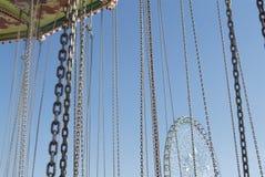 Catene sul giro di carnevale Fotografia Stock