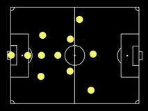Catennacio famous soccer tactics Stock Images