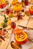 Catered galanteryjny lunch polewka w kabaczek gurdach Fotografia Stock