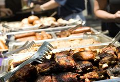 Catered summer barbecue Stock Images