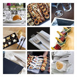 Caterers and gastronomy collage Stock Image