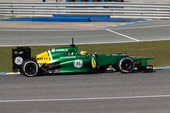 Caterham F1 Team - Charles Pic -2013 Royalty Free Stock Photos