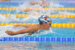 Caterina Giacchett. LEN Swimming Championships: Caterina Giacchetti in 200 mt butterfly Royalty Free Stock Image