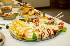 cateringów talerze Zdjęcia Royalty Free