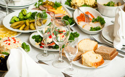 Catering. Table with catering food delicious Royalty Free Stock Photography