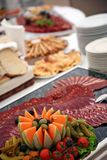 Catering. Tables with details and decorations Stock Photos