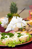 Catering -. Russian salad in canape Stock Photo