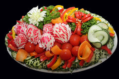 Catering. Prepared catering from salads and vegetable Royalty Free Stock Image