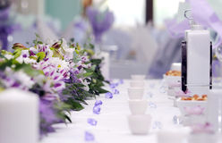 Catering arrangement of wedding Royalty Free Stock Photography