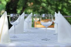 Catering background. Close-up of stylish glasses. catering background Royalty Free Stock Photos