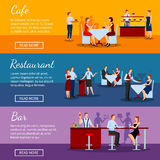 Catering Banners Set Royalty Free Stock Images