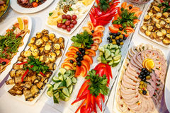 Catering banquet table royalty free stock photos