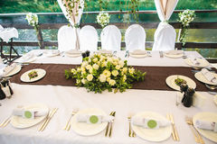 Catering banquet table with different food Royalty Free Stock Photo