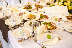 Catering banquet table with different food Royalty Free Stock Photography