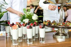 Desserts table on party event or wedding celebration Royalty Free Stock Images