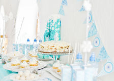 Catering for birthday party Stock Image