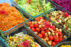 Catering buffet. Vegetable buffet in a garden party Stock Images