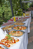 Catering buffet in the castle Stock Photo