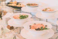 Catering buffet Stock Photos