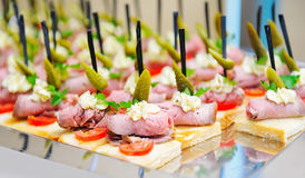 Catering buffet snacks stock photo
