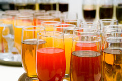 Catering buffet style - glasses Stock Photography