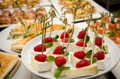 Catering buffet table Royalty Free Stock Photos