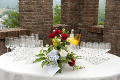 Catering buffet Tercesi castle Royalty Free Stock Photography