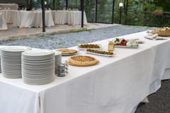 Catering buffet Tercesi castle Stock Photos