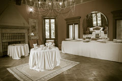Catering buffet Tercesi castle Stock Photography