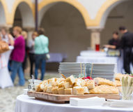 Catering at the business event. Royalty Free Stock Photography