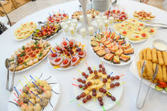 Catering canapes food Royalty Free Stock Photography