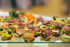 Catering cater buffet wedding Royalty Free Stock Photos