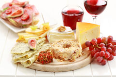Catering cheese platter Stock Image
