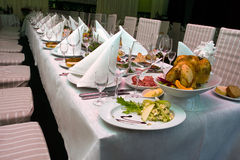 Catering - close-up of the festive table Stock Image
