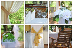 Catering collage Stock Photo