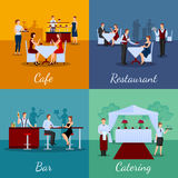 Catering Concept Icons Set Stock Photography
