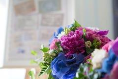 Catering decoration flower arrangement. Bouquet Stock Image
