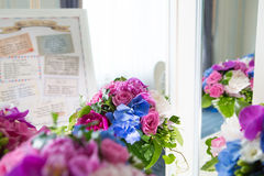 Catering decoration flower arrangement. Bouquet Royalty Free Stock Photography