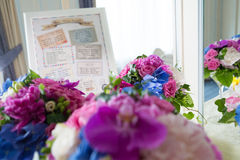 Catering decoration flower arrangement. Bouquet Royalty Free Stock Images