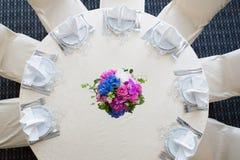 Catering decoration flower arrangement. Bouquet Stock Photography