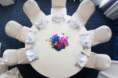 Catering decoration flower arrangement. Bouquet Royalty Free Stock Photos