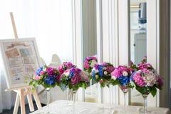 Catering decoration flower arrangement. Bouquet Stock Images