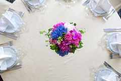 Catering decoration flower arrangement. Bouquet Royalty Free Stock Photo