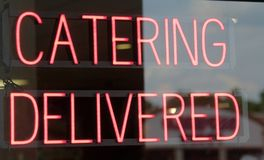 Catering Delivered Sign Royalty Free Stock Images