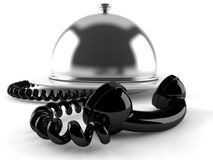Catering dome with handset Royalty Free Stock Images